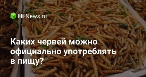 Каких червей можно официально употреблять в пищу? - Hi-News.ru