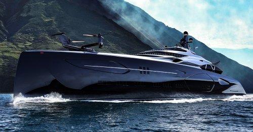 This Battleship-Inspired Mega Yacht Has Room For Your Submarine, VTOL, & Multiple Boats