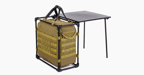 This Helinox 600D Tactical Cargo Bag Features An Aluminum Chassis With A Built-In Outdoor Table
