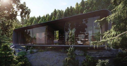 The 'Dwelling Pod' Is A Modern Luxury Cabin Set In A Secluded & Mountainous Forest Locale