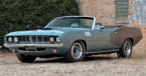 This 1971 Plymouth Hemi Cuda Convertible Is The Only One Like It In Existence
