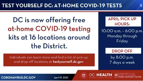 DC Health Announces At-Home COVID Testing Kits