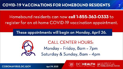 Homebound COVID Vaccine Program Begins April 26