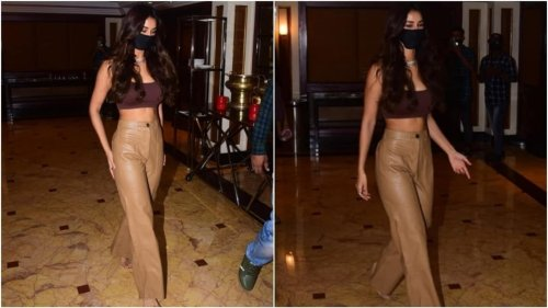 Pics: Disha Patani in bralette and leather pants dishes out chic fashion goals