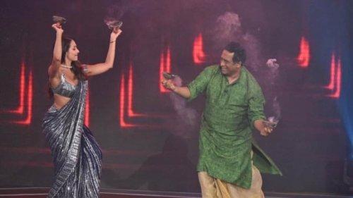 Malaika Arora performs Dhunuchi dance with Anurag Basu on Super Dancer 4, watch