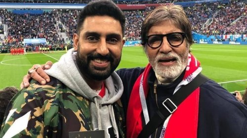 Abhishek Bachchan responds to Twitter user who said he's a better actor than dad Amitabh Bachchan