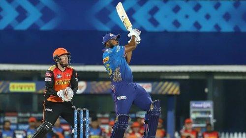 MI vs SRH: Kieron Pollard hits the longest six of IPL 2021- WATCH