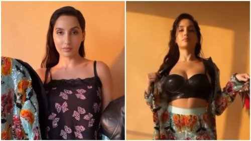 Nora Fatehi shows how easily she goes from casual wear to evening elan in new video
