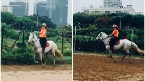 Kangana Ranaut shares clip from her horseback riding session, a fan says 'you are so good at it'