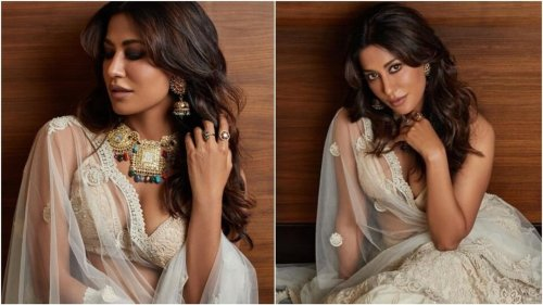 Chitrangda Singh's ethereal white bralette-lehenga set is worth a fortune, here's what it costs