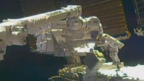 NASA astronaut loses mirror during 6 hour spacewalk outside ISS