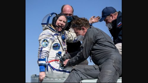 Astronaut aboard ISS returns home, takes 'first breath of Earth air' in 185 days. Watch