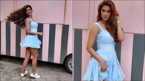 Disha Patani's flirty blue dress from Pepsi ad deserves a spot in summer closet