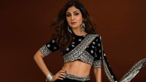 Shilpa Shetty in boho-inspired black concept saree is a queen, we are speechless