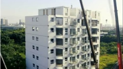 Chinese developer builds 10-storey building in Changsha in just over 28 hours