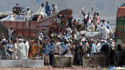 3 killed in police crackdown on banned radical Islamist party TLP in Pakistan