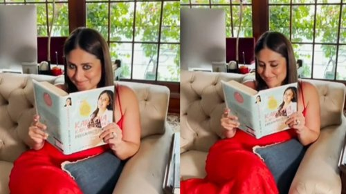Kareena Kapoor shares a glimpse of her nook as she reads her pregnancy book, see video
