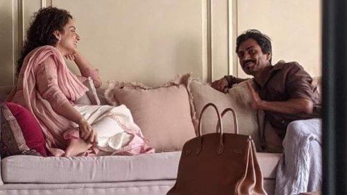 Nawazuddin Siddiqui visits Kangana Ranaut at her Bandra office as they prepare for Tiku Weds Sheru, see pic