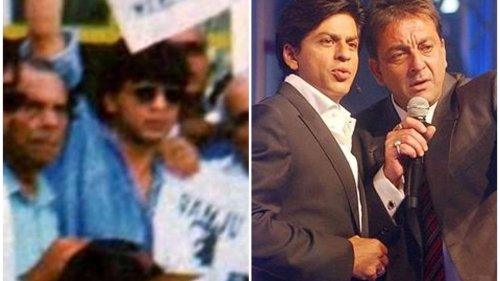 When Shah Rukh Khan joined Bollywood to support jailed Sanjay Dutt, called him 'very nice guy'. Watch video from 1994