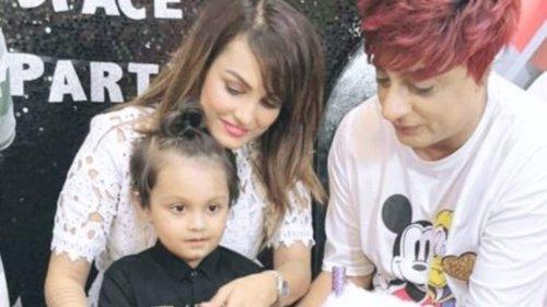 Nisha Rawal hosts birthday party for son Kavish amid legal battle with husband Karan Mehra. See pics