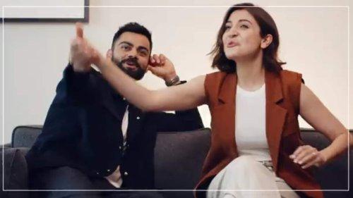Anushka Sharma and Virat Kohli burst into laughter after disagreement, fan tells him 'don't even argue'. Watch