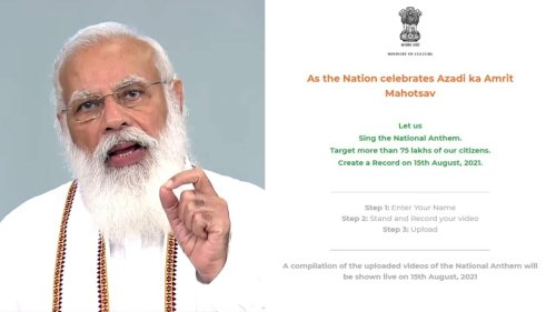 'Sing, record national anthem': PM Modi plays up 'Rashtragaan' portal ahead of Independence Day