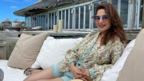 Madhuri Dixit shares throwback picture of her recent Maldives trip: 'Sunkissed'