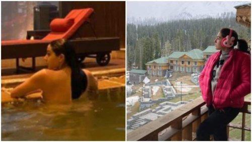 Sara Ali Khan takes dip in pool, enjoys waffles on her trip to mountains. See pics