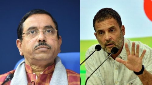 Pralhad Joshi hits out at Rahul Gandhi after '56-inch' jibe, calls him 'part-time politician'