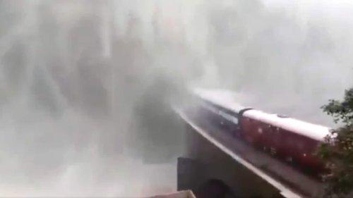 'Breathtaking': Heavy rains halt train passing through Goa's Dudhsagar waterfall