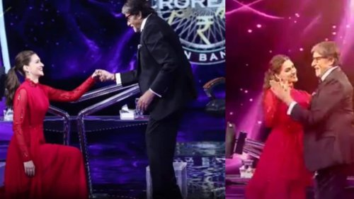KBC 13: Kriti Sanon blushes as Amitabh Bachchan says he has been complimenting her for years, watch