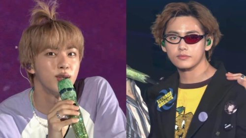 BTS 2021 Muster Sowoozoo day 2: OT7 perform Chicken Noodle Soup, Jin's 'apple hair', V's Dragon Ball glasses