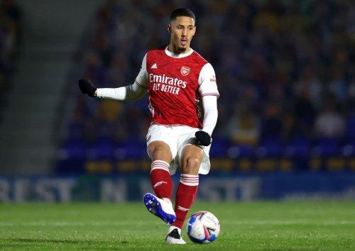 Arsenal fans react to William Saliba's performance v PSG tonight