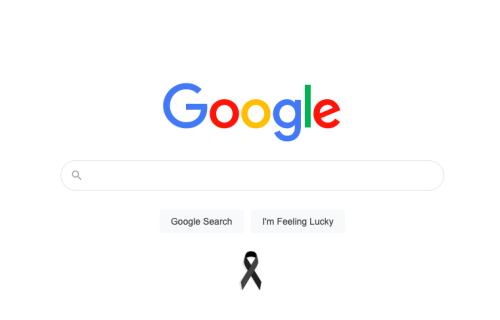 Why is there a black ribbon on Google today? Meaning explained