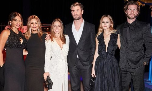 Liam Hemsworth and girlfriend Gabriella Brooks make their first public appearance together