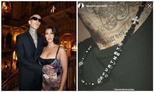 Kourtney Kardashian and Travis Barker found another way to declare their love for each other