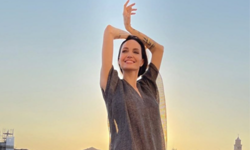These photos prove Angelina Jolie was living her best life while vacationing in Venice