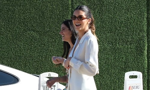 Kendall Jenner's legs are a mile long in all-white ensemble