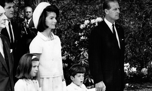 Prince Philip's sweet moment with John F. Kennedy Jr. revealed