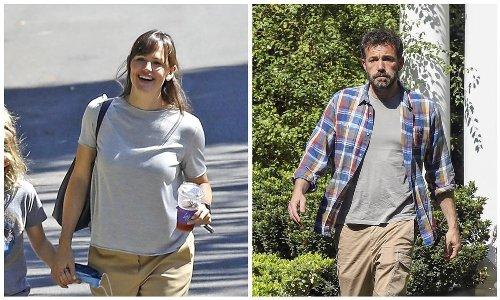Jennifer Garner and son Samuel pay Ben Affleck a visit