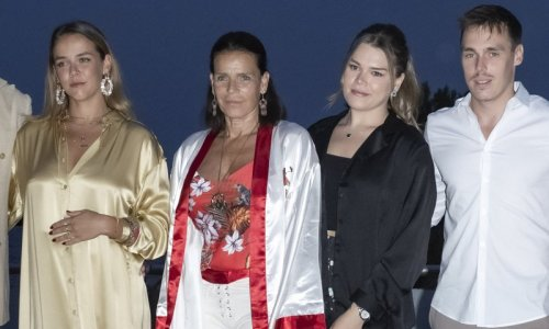 Princess Stephanie and her kids make appearance at gala in Monaco