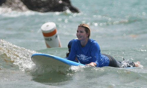 Surf's up! Ivanka Trump hits the waves in Miami with her kids