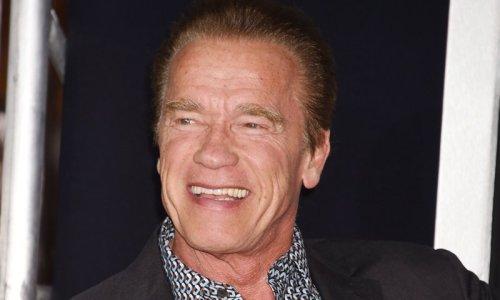 Arnold Schwarzenegger celebrates his birthday with his pet donkey and dog