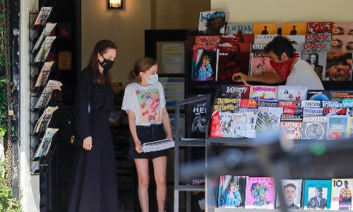 Angelina Jolie ran errands with her daughter Vivianne over the weekend