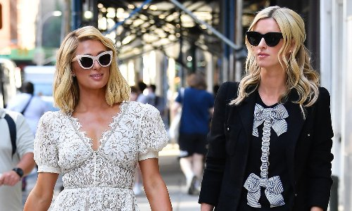 Paris Hilton and Nicky Hilton take a fashionable stroll in The Big Apple