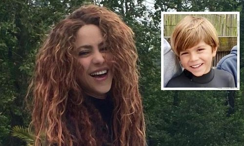 Shakira's son Sasha is learning how to be a surfer like mom