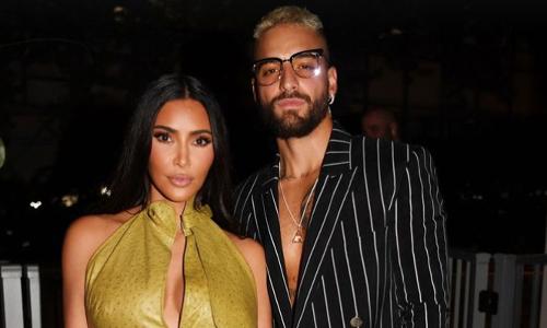 Kim Kardashian, Maluma, Bad Bunny and more stars party at Pharrell's new hotel