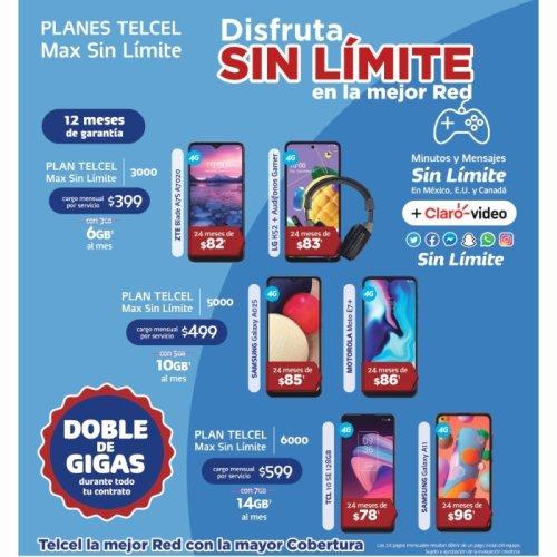 ¡Estrena un nuevo smartphone con un Plan Telcel Max Sin Límite!