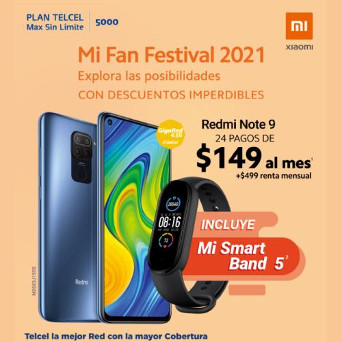 Estrena un Redmi Note 9 y aprovecha el Mi Fan Festival 2021