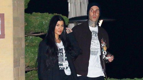 Kourtney Kardashian Covers Her Chest With Only Her Hair As Travis Barker Snaps A Flirty Photo